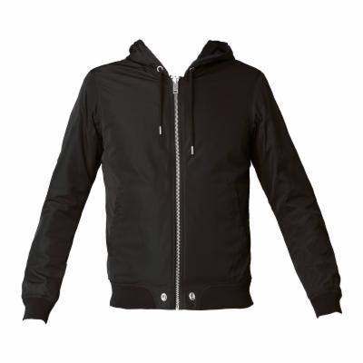 Sweat zippé à capuche noire réversible Hellswe Diesel noir 100% nylon du S  au XL homme 370d7b4aae83